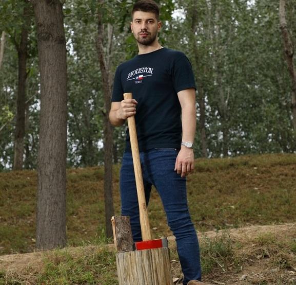 heavy wood splitting maul axe