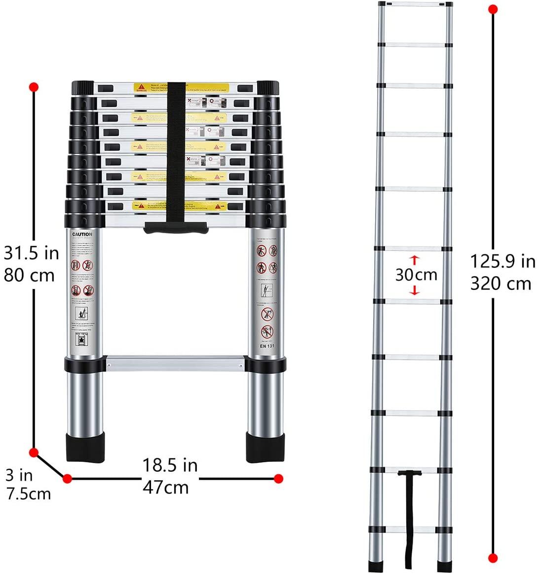 3.2M Extendable Alminium Ladders