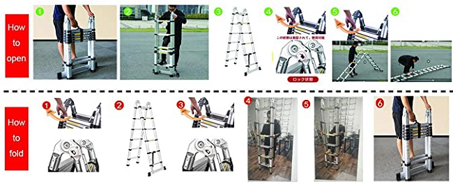 Aluminium Portable Telescopic Ladder