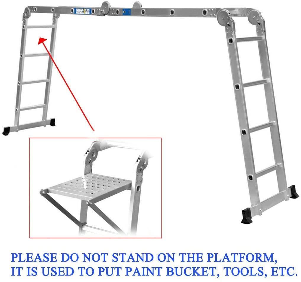 4x4 Aluminium Multi Purpose Folding Extension Ladder