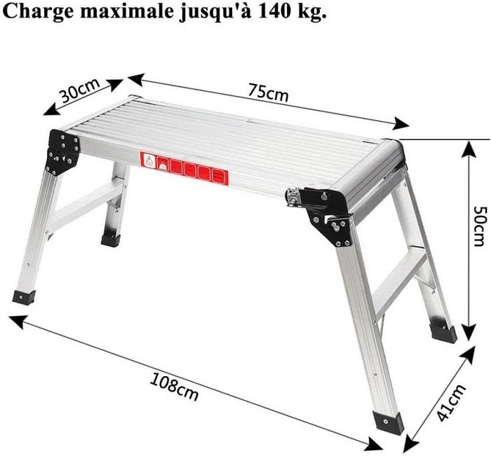 Adjustable Multi Purpose Work Platform Ladder